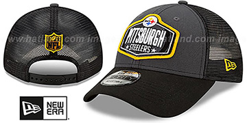 Steelers 2021 NFL TRUCKER DRAFT 940 SNAP Hat by New Era