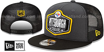 Steelers 2021 NFL TRUCKER DRAFT SNAPBACK Hat by New Era
