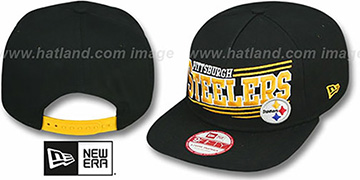 Steelers 'ANGULAR A-FRAME SNAPBACK' Black Hat by New Era
