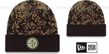 Steelers 'ARMY CAMO PRINT-PLAY' Knit Beanie Hat by New Era