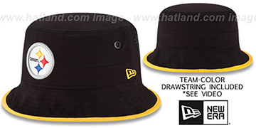 Steelers 'BASIC-ACTION' Black Bucket Hat by New Era
