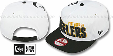 Steelers 'BIGSIDE A-FRAME SNAPBACK' White-Black Hat by New Era