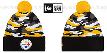 Steelers 'CAMO CAPTIVATE' Knit Beanie Hat by New Era