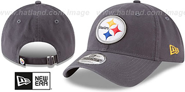 Steelers CORE-CLASSIC STRAPBACK Charcoal Hat by New Era