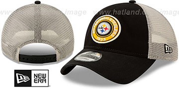 Steelers ESTABLISHED CIRCLE TRUCKER SNAPBACK Hat by New Era