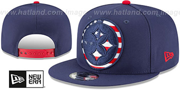 Steelers FLAG FILL INSIDER SNAPBACK Navy Hat by New Era