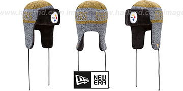 Steelers 'FROSTWORK TRAPPER' Gold Knit Hat by New Era