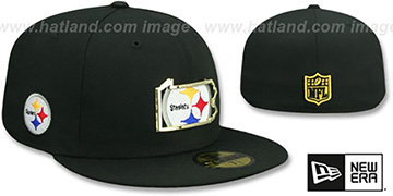 Steelers GOLD STATED INSIDER Black Fitted Hat by New Era