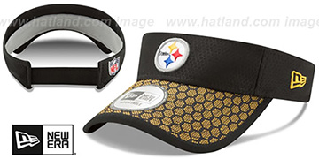 Steelers 'HONEYCOMB STADIUM VISOR' Black by New Era
