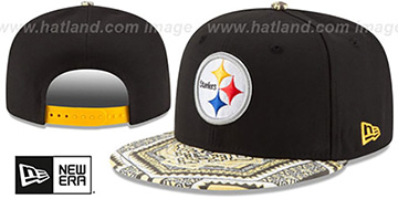 Steelers KALEIDOVIZE SNAPBACK Black Hat by New Era
