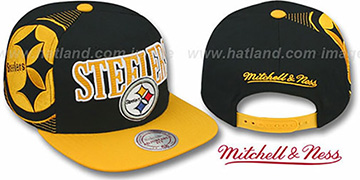 Steelers 'LASER-STITCH SNAPBACK' Black-Gold Hat by Mitchell & Ness