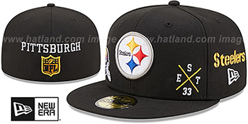 Steelers MULTI-AROUND Black Fitted Hat by New Era