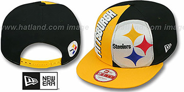 Steelers 'NE-NC DOUBLE COVERAGE SNAPBACK' Hat by New Era