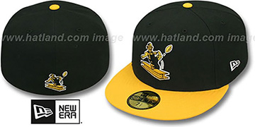 Steelers NFL 2T THROWBACK TEAM-BASIC Black-Gold Fitted Hat by New Era