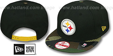 Steelers NFL CAMO-BRIM SNAPBACK Adjustable Hat by New Era