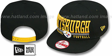 Steelers 'NFL LATERAL SNAPBACK' Black Hat by New Era