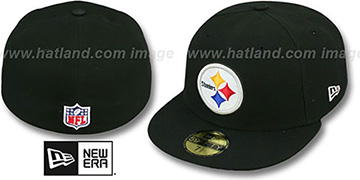 Steelers 'NFL STADIUM' Black Fitted Hat by New Era