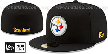 Steelers 'NFL TEAM-BASIC' Black Fitted Hat by New Era