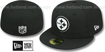 Steelers 'NFL TEAM-BASIC' Black-White Fitted Hat by New Era