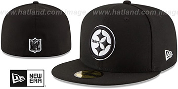 Steelers NFL TEAM-BASIC Black-White Fitted Hat by New Era