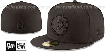 Steelers NFL TEAM-BASIC BLACKOUT Fitted Hat by New Era
