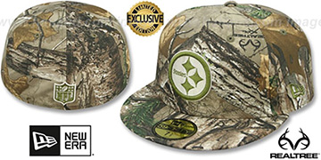 Steelers NFL TEAM-BASIC Realtree Camo Fitted Hat by New Era