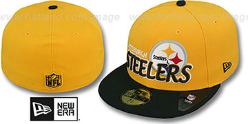 Steelers NFL-TIGHT Gold-Black Fitted Hat by New Era