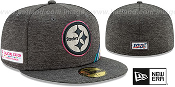 Steelers 'ONFIELD CRUCIAL CATCH' Grey Fitted Hat by New Era