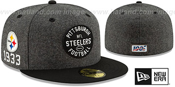 Steelers 'ONFIELD SIDELINE HOME' Charcoal-Black Fitted Hat by New Era