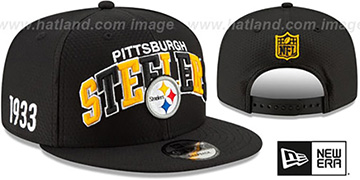 Steelers ONFIELD STADIUM 100 SNAPBACK Hat by New Era