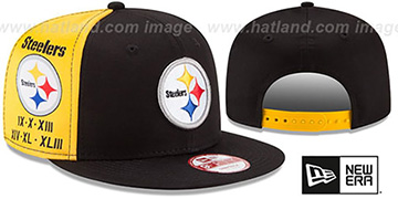 Steelers 'PANEL PRIDE SNAPBACK' Hat by New Era