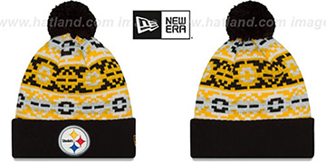 Steelers RETRO CHILL Knit Beanie Hat by New Era