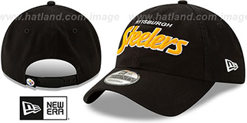 Steelers 'RETRO-SCRIPT SNAPBACK' Black Hat by New Era