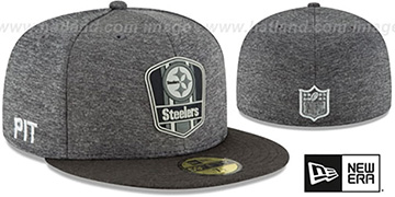 Steelers 'ROAD ONFIELD STADIUM' Charcoal-Black Fitted Hat by New Era
