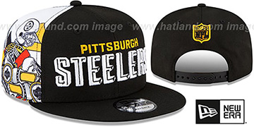 Steelers 'SIDE-CARD SNAPBACK' Black Hat by New Era