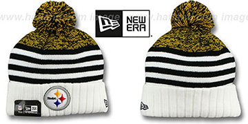 Steelers 'SNOWFALL STRIPE' Knit Beanie Hat by New Era