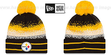 Steelers SPEC-BLEND Knit Beanie Hat by New Era
