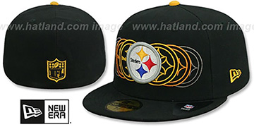 Steelers STOP MOTION Black Fitted Hat by New Era
