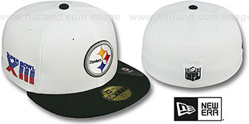 Steelers 'SUPER BOWL XIII' White-Black Fitted Hat by New Era