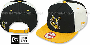 Steelers TB 'TRIPLE MELTON STRAPBACK' Black-White-Gold Hat by New Era