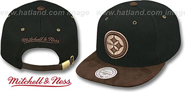 Steelers TC-BROWN SUEDE STRAPBACK Hat Mitchell & Ness