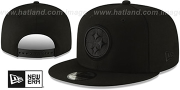 Steelers TEAM-BASIC BLACKOUT SNAPBACK Hat by New Era