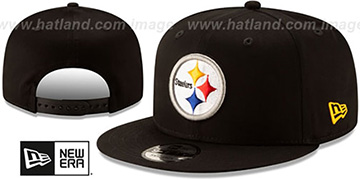 Steelers TEAM-BASIC SNAPBACK Black Hat by New Era