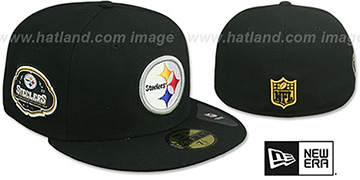 Steelers TEAM-SUPERB Black Fitted Hat by New Era