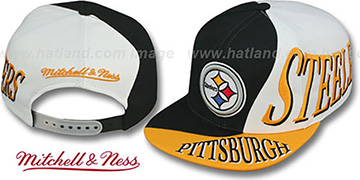 Steelers 'THE SKEW SNAPBACK' Hat by Mitchell & Ness