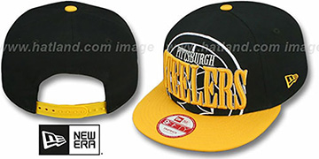 Steelers THROUGH SNAPBACK Black-Gold Hat by New Era