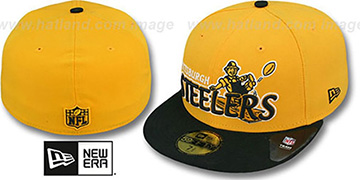 Steelers 'THROWBACK NFL-TIGHT' Gold-Black Fitted Hat by New Era