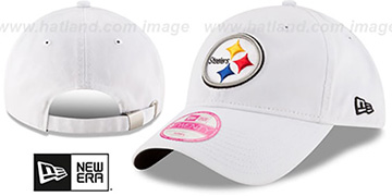 Steelers 'WOMENS PREFERRED PICK STRAPBACK' White Hat by New Era