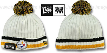 Steelers YESTER-YEAR Knit Beanie Hat by New Era
