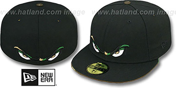 Storm CAMO EYES Black Fitted Hat by New Era